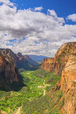USA14566AW Zion Canyon from Angels landing Zion National Park, Utah, USA,