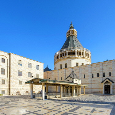 ISR1811AW Basilica of the Annunciation, Nazareth, North District, Israel.