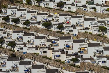 ES09470 Spain, Canary Islands, Gran Canaria Island, Puerto Rico, resort high angle view
