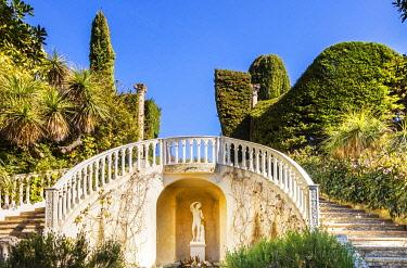 FRA11554 France. French Riviera. St Jean Cap Ferrat. The majestic Villa Ephrussi de Rothschild gardens.
