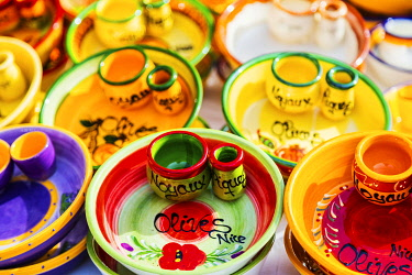 FRA11564 France. French Riviera. Nice. Provencal products, ceramic souvenirs.