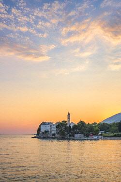 CLKFV104835 The Dominican Monastery on Glavica peninsula at sunset. Bol, Brac island, Split - Dalmatia county, Croatia.