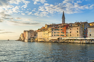 CLKFV104868 Sunset behind the old town in summer. Rovinj, Istria county, Croatia.