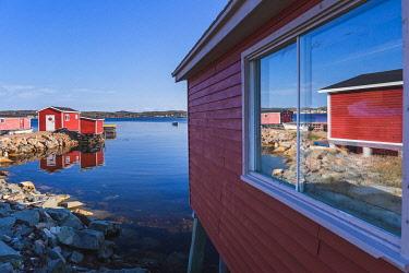 CLKFV112986 The fishing village of Joe Batt's Arm, Fogo Island, Newfoundland and Labrador, Canada