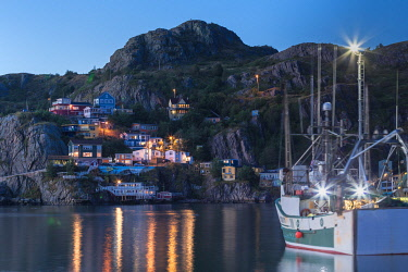 CLKFV112990 The historic and colorful Battery neighborhood in St. John�s, Newfoundland and Labrador, Canada