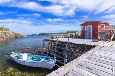 CLKFV112991 Fishing village of Salvage, Newfoundland, Newfoundland and Labrador, Canada