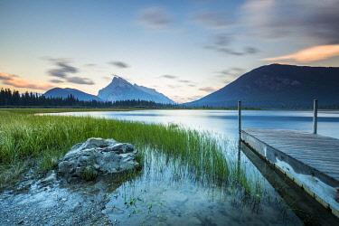 CLKNO105408 Mt. Rundle at Sunrise, Vermilion Lakes, Banff National Park, Alberta, Canada