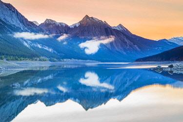CLKNO106388 Sunrise on Medicine Lake, Jasper National Park, Alberta, Canada