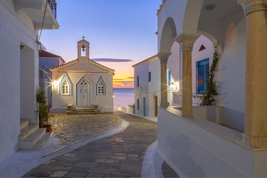 CLKGA106150 Church of St. Barbara, Andros, Cyclades Archipelago, Greece, Europe
