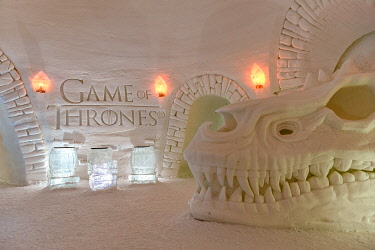 CLKMG111846 Ice Hotel Games of Thrones themed, (Snow Village Lapland Hotel),Muonio close to Kittilä, Lapland, Finland