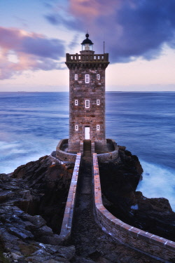 CLKMR108827 Kermorvan lighthouse at dawn in Brittany, France