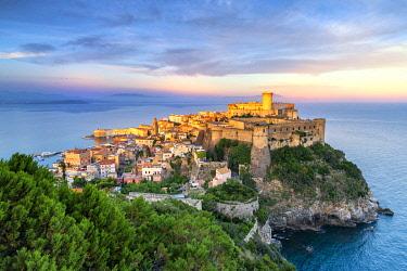 CLKSS112534 Gaeta at sunset. Europe, Italy, Lazio, Latina province, Gaeta