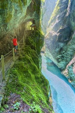 CLKMG113059 Tolmin gorges, Goriska Region, SoÄa valley, Triglav National Park, Slovenia, Europe (MR)