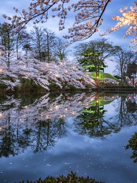JAP1912AW Sakura festival at the Takada castle, Joetsu, Niigata prefecture, Japan