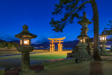 JAP1935AW The Great Torii of Miyajima, Japan