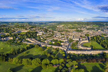 UK08558 Aerial view over Bath, Somerset, England