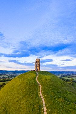 UK08569 United Kingdom, England, Somerset, Glastonbury, St. Michael's Church Tower on Glastonbury Tor