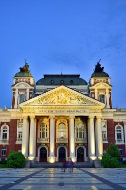 BUL353AW Ivan Vazov National Theatre, the oldest theatre in the country. Sofia, Bulgaria