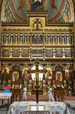 ROM1557AW Interior of the Holy Trinity Church (Biserica Sfânta Treime). Sighisoara, Transylvania. Romania