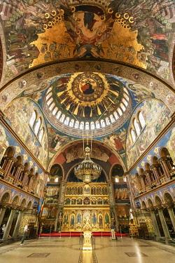 ROM1586AW Holy Trinity Orthodox Cathedral (Catedrala Sfanta Treime). Sibiu, Transylvania. Romania