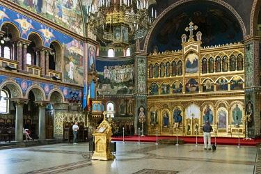 ROM1600AW Holy Trinity Orthodox Cathedral (Catedrala Sfanta Treime). Sibiu, Transylvania. Romania