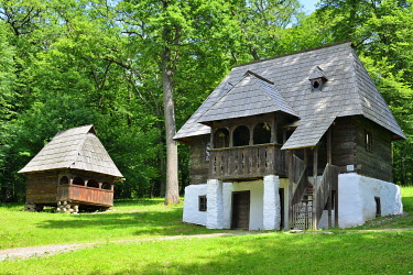 ROM1606AW Ambulant trader's homestead, Goiesti, Vidra, Alba county. ASTRA Museum of Traditional Folk Civilization, an open-air museum outside Sibiu, Transylvania. Romania