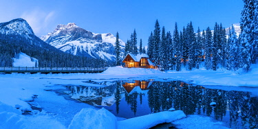 CAN3503AW Chalet in Winter, Emerald Lake, British Columbia, Canada