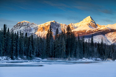 CAN3510AW Mt. Edith Cavell in Winter,  Jasper National Park, Alberta, Canada