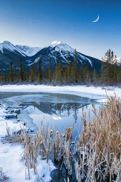 CAN3519AW Vermilion Lake Reflections in Winter, Banff, Alberta, Canada
