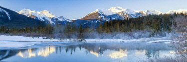 CAN3520AW Vermilion Lake Reflections in Winter, Banff, Alberta, Canada