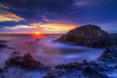 NIR8952AW Giant's Causeway at Sunset, Co. Antrim, Northern Ireland