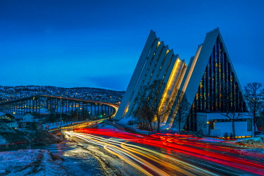 NOR1074AW Arctic Cathedral at Twilight, Tromso, Norway