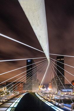 SPA9529AW Calatrava Bridge, Bilbao, Basque Country, Spain
