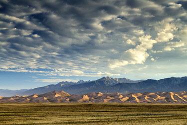 USA14692AW Cloudscape over Great Sand Dunes National Park, Colorado, USA