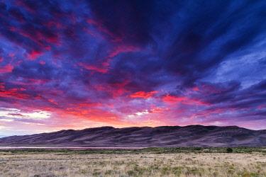 USA14697AW Sunset over Great Sand Dunes National Park, Colorado, USA