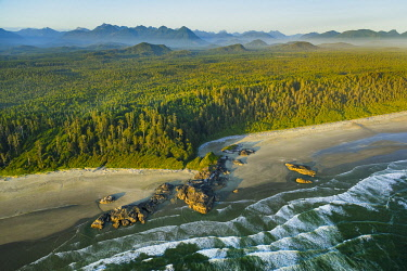 CN02YCH0006 Canada, British Columbia. Pacific Rim National Park, aerial view.
