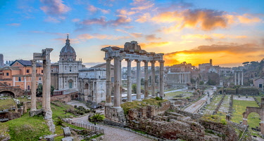 IT414RF Italy, Lazio, Rome, Forum at sunrise