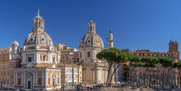 IT01957 Italy, Lazio, Rome, Church of Santa Maria di Loreto, Church of the Most Holy Name of Mary at the Trajan Forum and Trajan's Column