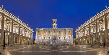 IT01965 Italy, Lazio, Rome, Capitoline Hill, Piazza del Campidoglio, Palazzo Senatorio