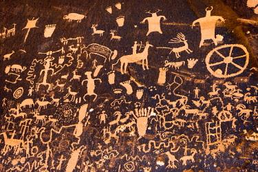 US45RBS0076 Petroglyphs at Newspaper Rock State Park, Utah