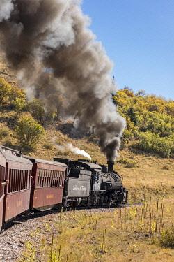 US06BJY1453 USA, Colorado. Cumbres and Toltec Scenic Railroad train
