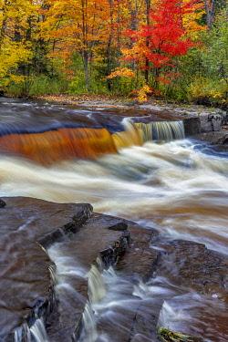 US23CHA0326 Sturgeon River in autumn near Alberta in the Upper Peninsula of Michigan, USA