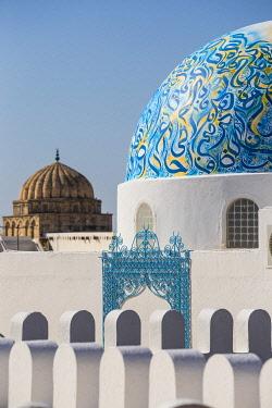 TU116RF Tunisia, Kairouan, Madina, Dome on the terrace roof of a cosmetic shop