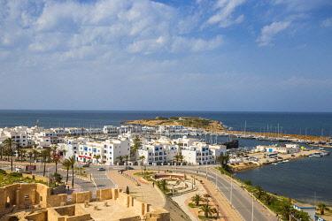 TU02082 Tunisia, Monastir, View towards marina from Fort