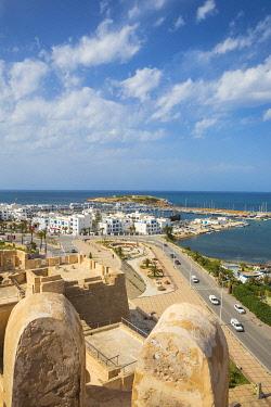 TU02083 Tunisia, Monastir, View towards marina from Fort
