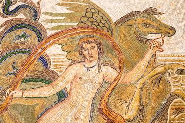 TU02093 Tunisia, El Jem, Mosaics at Archaeology musuem