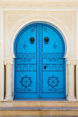 TU02189 Tunisia, Kairouan, Madina, Blue door