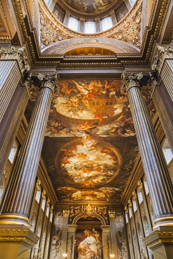TPX71328 England, London, Greenwich, The Old Royal Naval College, The Painted Hall