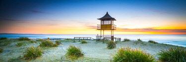AUS3174AW The Entrance beach shark tower. The Entrance, Central Coast, New South Wales, Australia