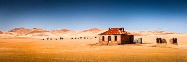 AUS3231AW Historic homestead in paddock. Burra, Upper Mount Lofty Ranges, South Australia, Australia